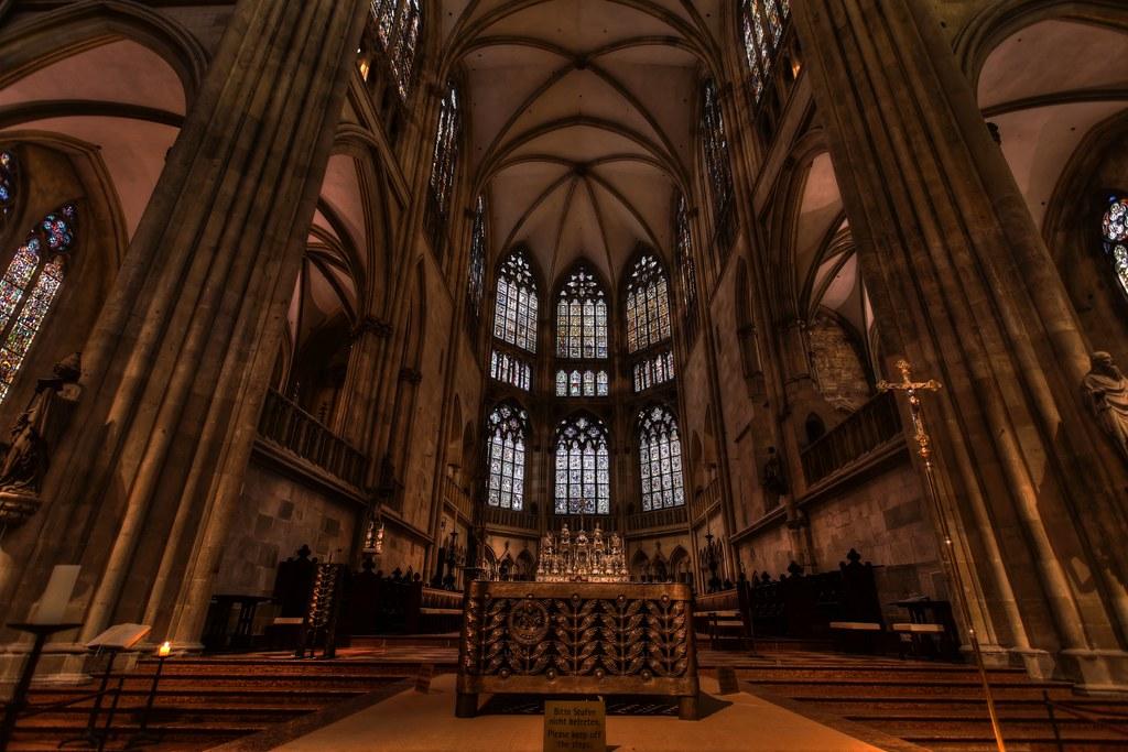 interior of st peter regensburg the gothic cathedral flickr. Black Bedroom Furniture Sets. Home Design Ideas