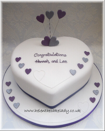 Cake Decorations For Engagement Cake : Heart engagement cake I was asked to make this cake by ...
