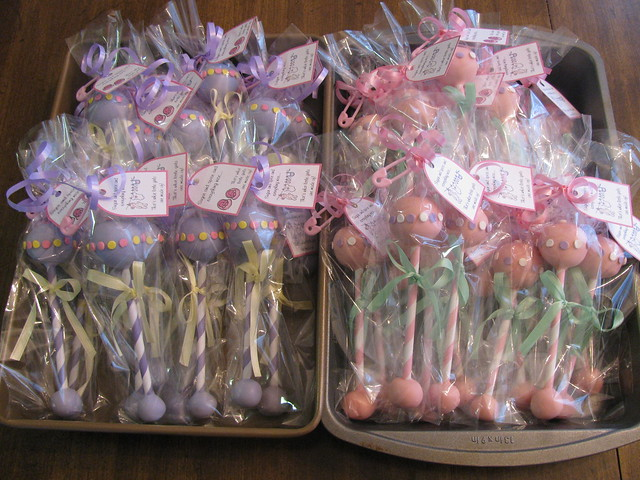 Baby Shower Cake Rattles