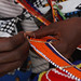 Maasai women make, sell and display their bead work
