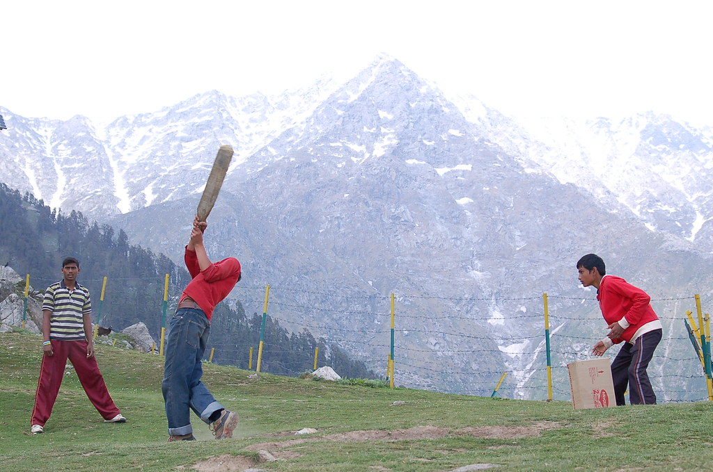 Cricket On Top Of The Triund HeightApprox Meters Flickr - Height above sea level finder