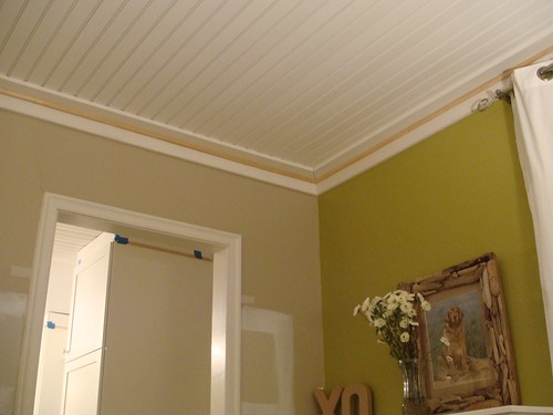Living Room Ceiling Trim Is Installed Needs Paint