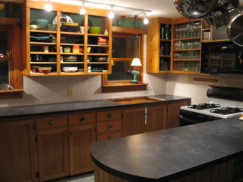 new countertops -- Formica Basalt Slate, matte finish