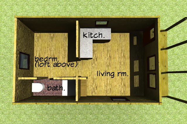 ... cabin plan | This floor plan also features a loft bed … | Flickr