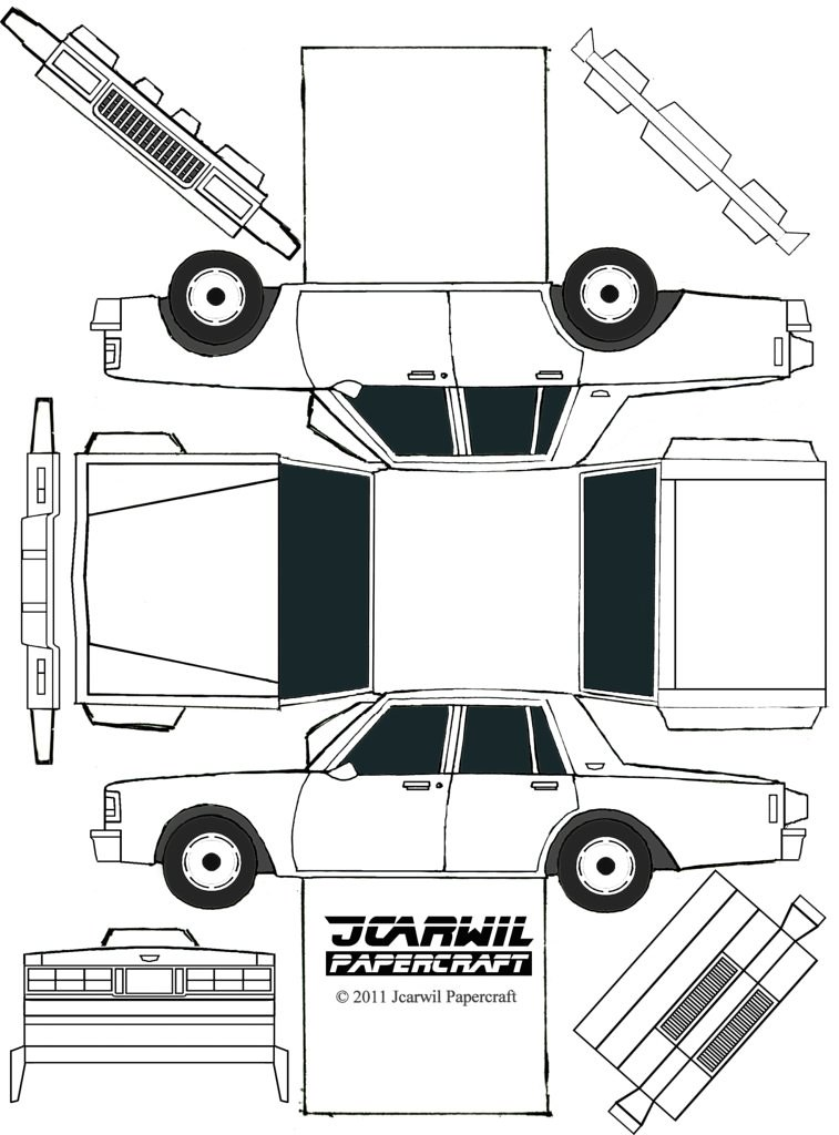 Papercraft Cars Template Papercraft Car Papercraft Car