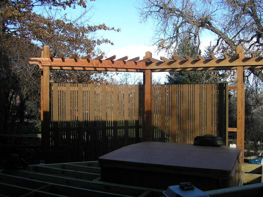 privacy screens hot tub area needs a little privacy colorado deck flickr. Black Bedroom Furniture Sets. Home Design Ideas