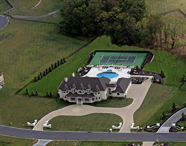 Backyard Tennis Court aerial backyard tennis court design and pool photo | flickr