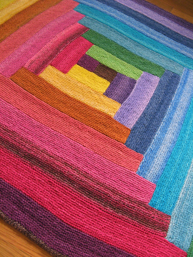 Babys Handspun Rainbow Log Cabin Blanket The blanket is d? Flickr