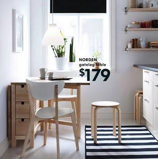 Norden gateleg table 179 birch or white for Table de norden ikea