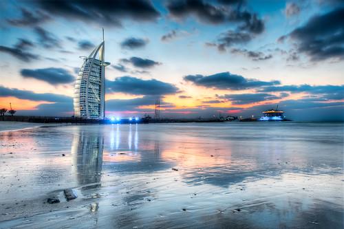 Sunset Over The Burj Al Arab - (HDR Dubai, UAE)