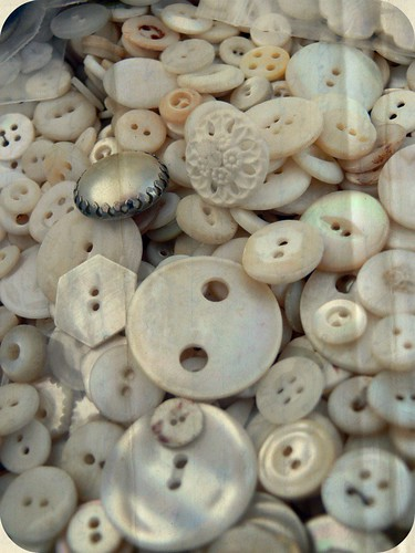 Vintage Mother-of-Pearl buttons | by Pretty Things Blog