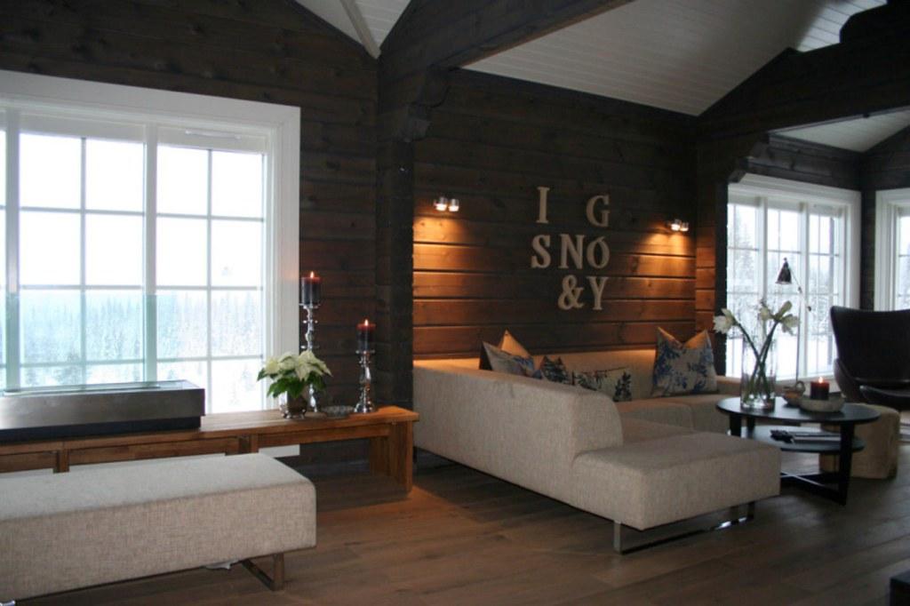 Interieur foto van een houten huis chalet of vakantiewoni flickr - Interieur van amerikaans huis ...