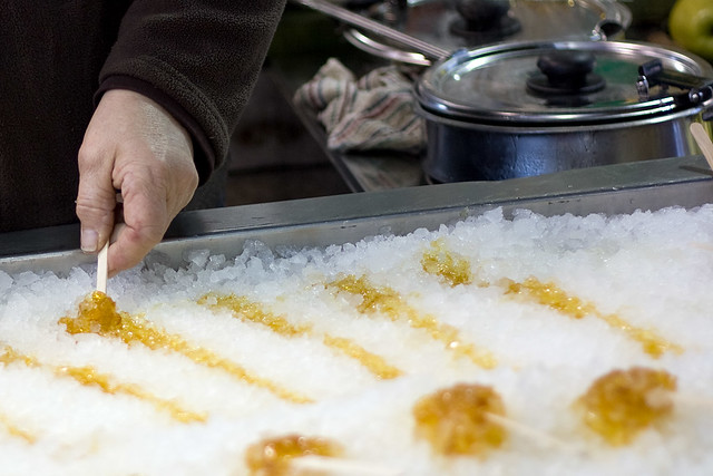 Maple syrup and snow candy | Flickr - Photo Sharing!