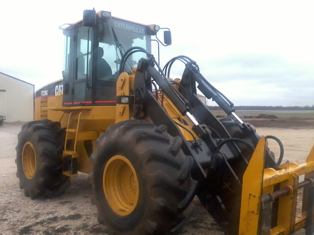 Cat It28g Wheel Loader With Quick Connect Bucket Log For