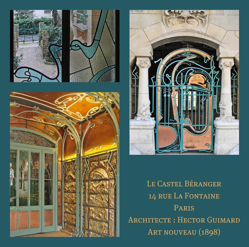 Le Castel B 233 Ranger D Hector Guimard Paris Le Castel