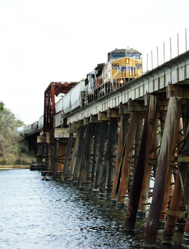 Through Truss Railroad Bridge, San Jacinto River, Crosby, Texas 0312111234 | by Patrick Feller