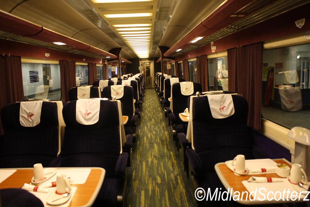 Virgin Trains Interior of Prentendolino MK3 First Class ...