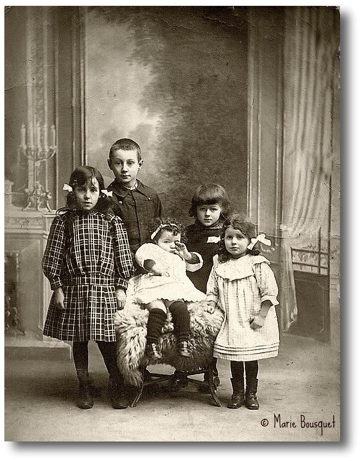 fratrie dans les ann es 1910 ma grand m re paternelle ga flickr. Black Bedroom Furniture Sets. Home Design Ideas