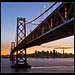 Under the Bay Bridge (San Francisco at sunset)