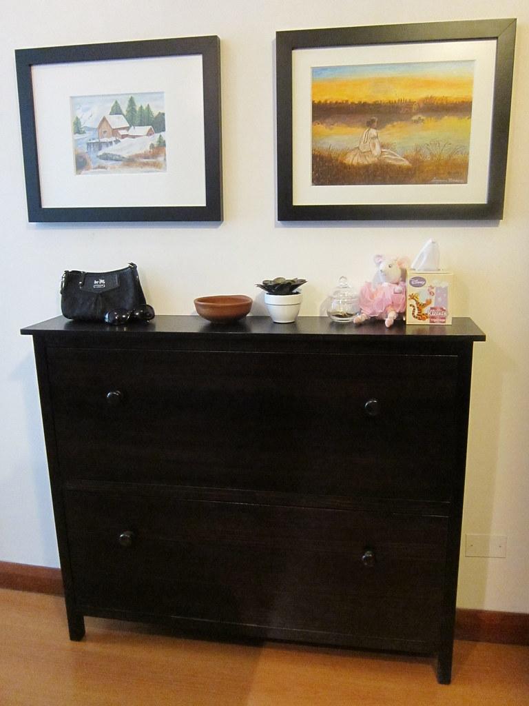 ikea hemnes shoe cabinet sarah friedlander flickr. Black Bedroom Furniture Sets. Home Design Ideas
