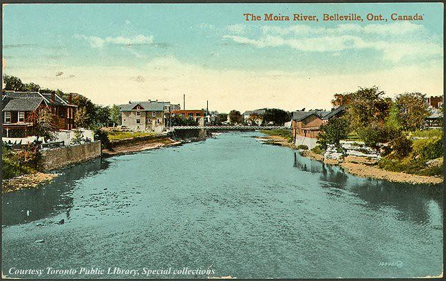 the moira river  belleville  ontario  canada  1910
