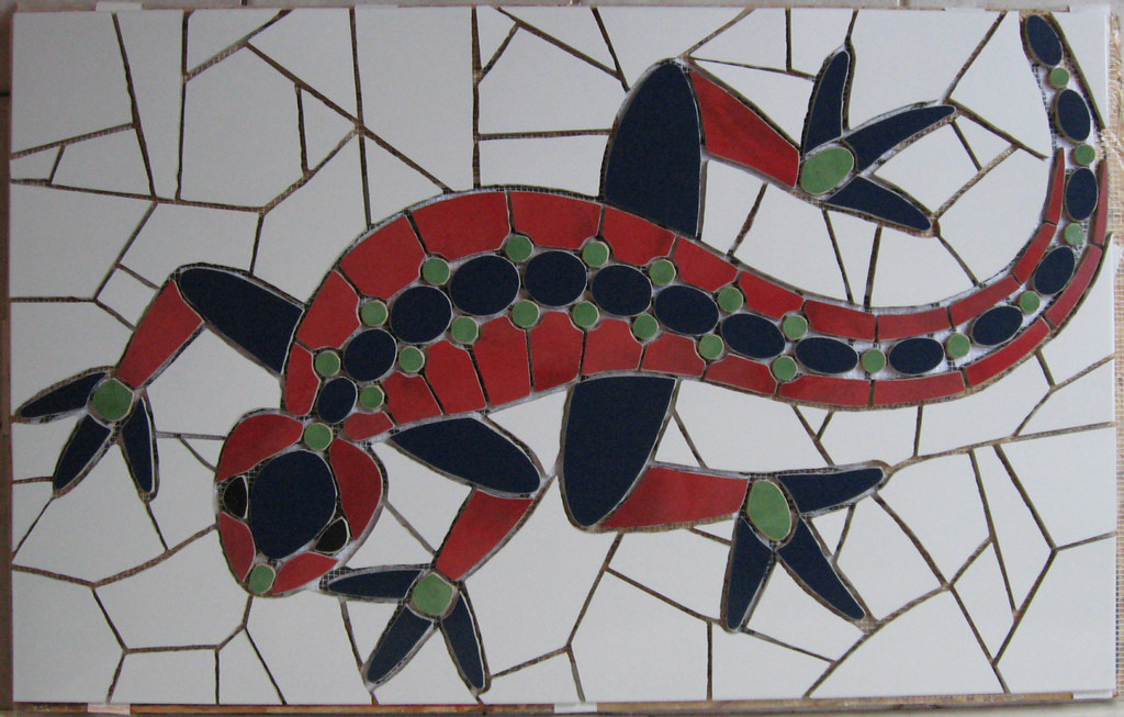 mosaikkunst eidechse komer1 mosaik mosaikkunst aus fliese flickr. Black Bedroom Furniture Sets. Home Design Ideas