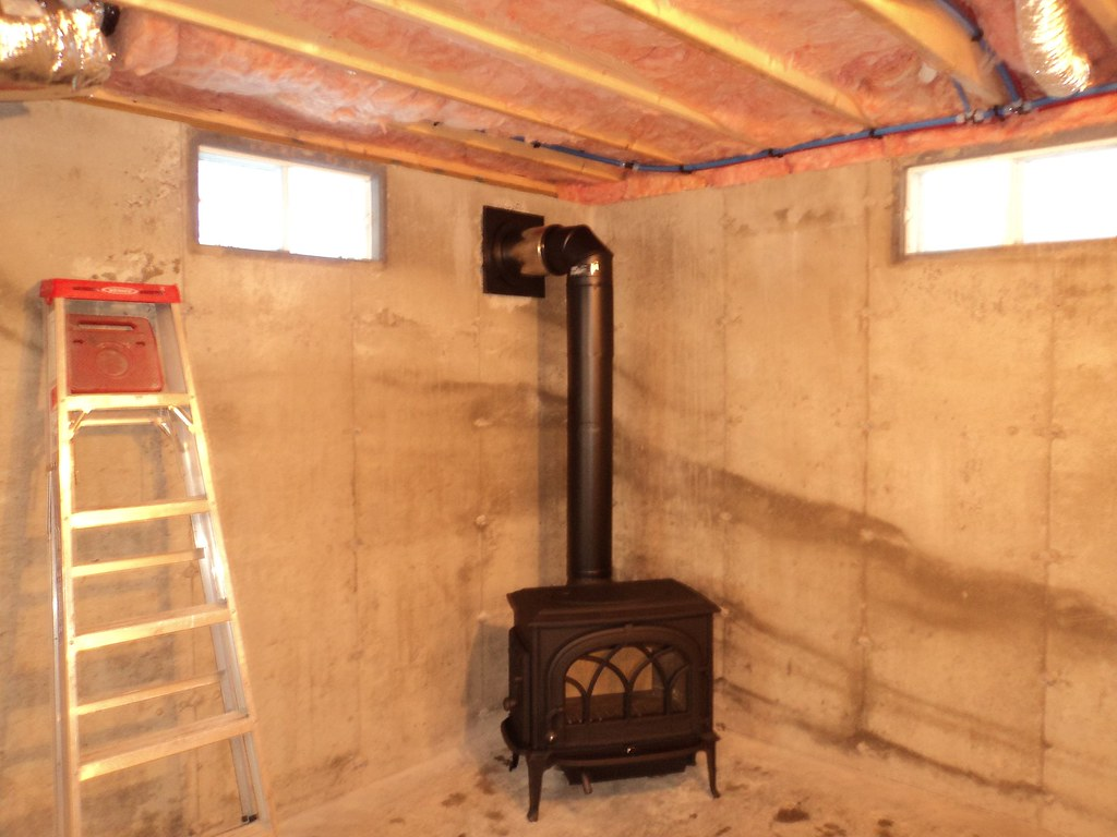 Wood Stove In Basement | WB Designs
