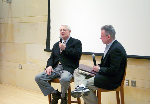 "Roy Blount, Jr. with Colin McEnroe at the Mark Twain House, with ""Duck Soup"" 