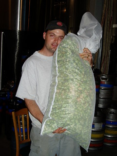 Hugging the wet-dry-hops bag | by jbrookston