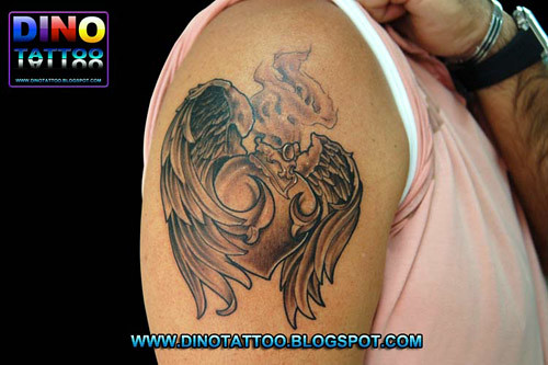 Tattoo Heart Wing Angel Tatuaje Corazon Alas Tatuagem Cor Flickr