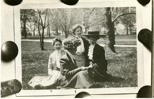 (left to right): An unidentified woman (possibly Alice Haskins) sitting with Lucia McCulloch (1873-1955), Clara H. Hasse (1880?-1926), and Mary K. Berger | by Smithsonian Institution