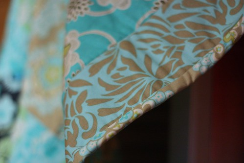 Binding on Amy Butler Quilt | by niftyfoodie