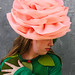 Felt/wool Baby Pink Flower Hat