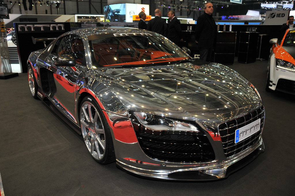 Audi R8 By Mtm A Silver Audi R8 Modified By Mtm And