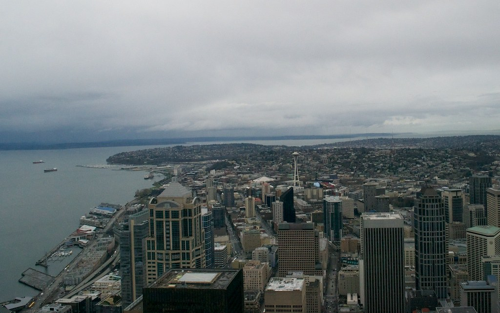 Seattle seattle from the 73rd floor of the columbia for Columbia flooring jobs