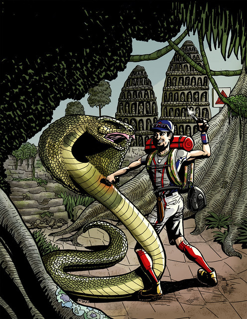 Josh Beckett fighting a giant cobraGiant Cobra