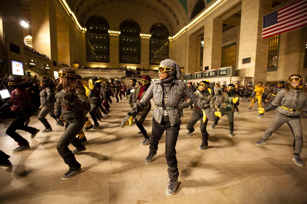 NYFW: Moncler Flash Mob at Grand Central Station, FW11 ...
