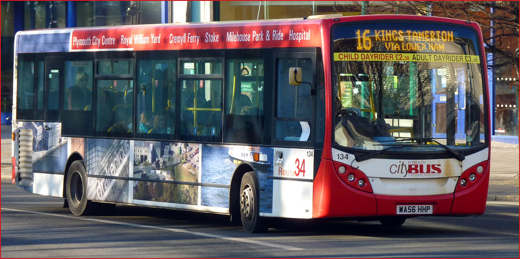 Plymouth Citybus 134 WA56HHP 15 December 2010