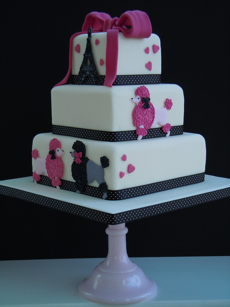 Paris Poodle Cake A 3 Tiered Celebration Cake Inspired