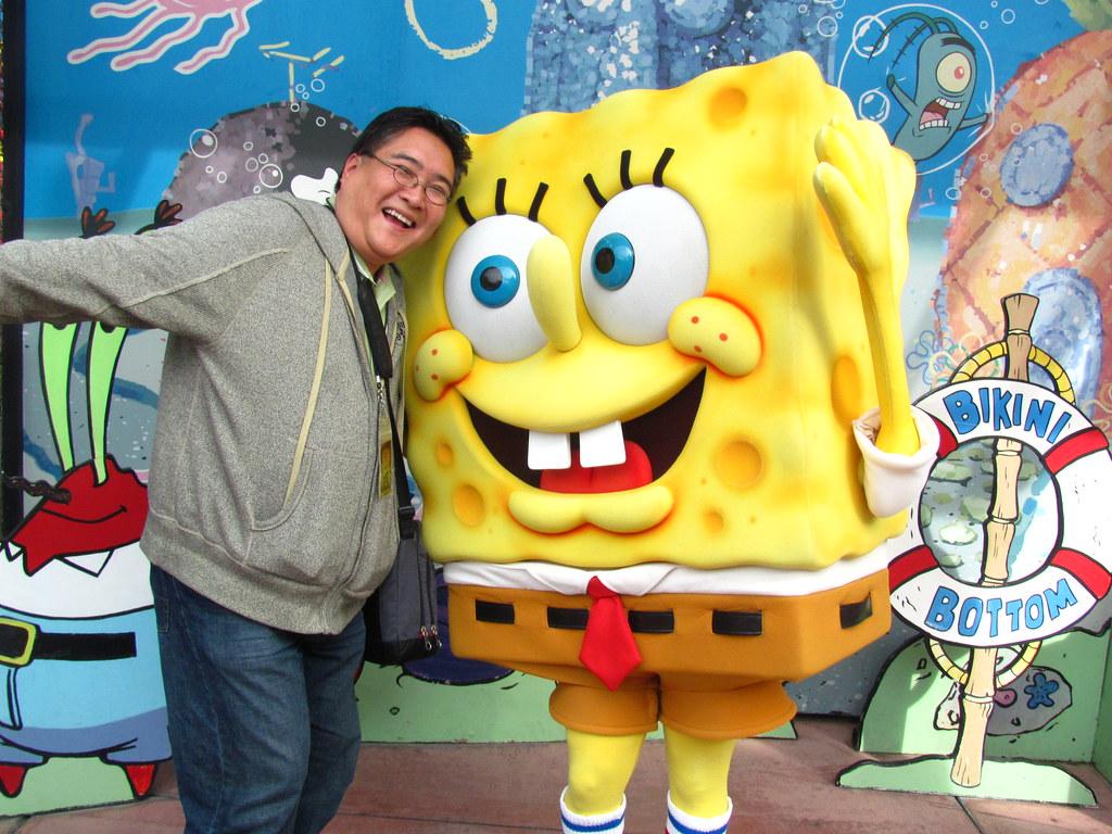 Meeting Spongebob Squarepants At Universal Studios Flickr