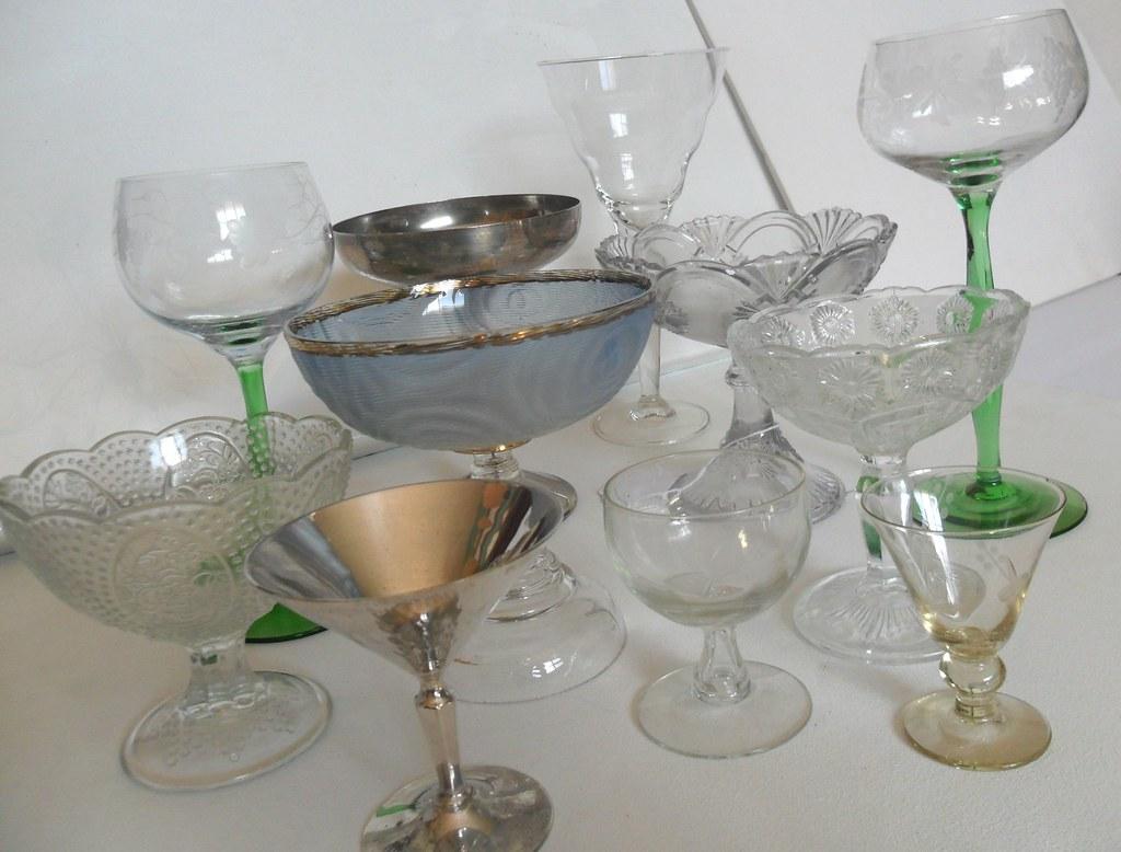 Cristal antiguo copas de cristal de plata for Copas de cristal