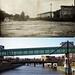 Then & Now - CGW bridge 1908 Flood 1