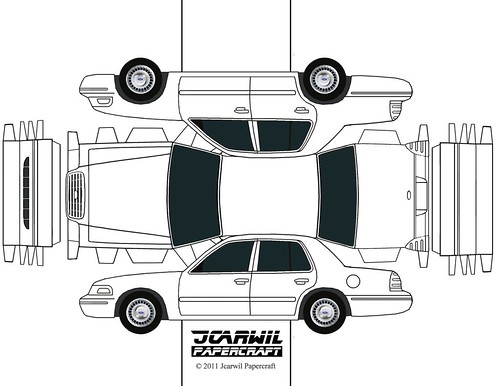Design Your Own Car >> JCARWIL PAPERCRAFT 2000 Ford Crown Victoria | Flickr - Photo Sharing!