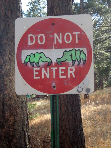"Funny ""Do Not Enter"" sign grafitti 