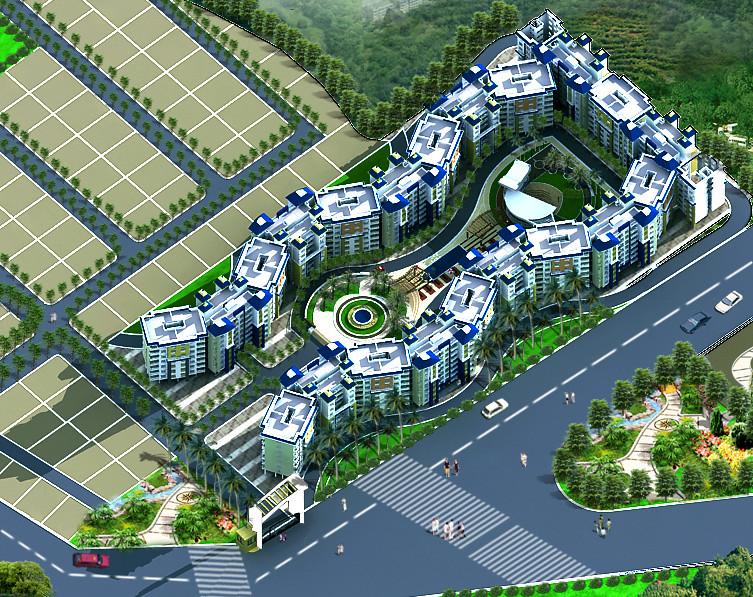 Layout of apartment complex in dajikaka gadgil developers for Apartment complex layout