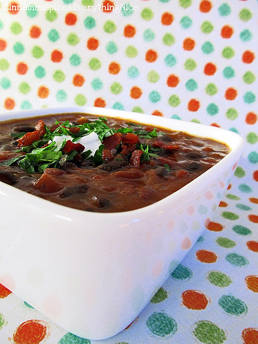 Black Bean Soup | by CinnamonKitchn
