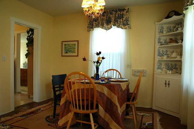 French country hobbit makeover, dining room, chandelier ...