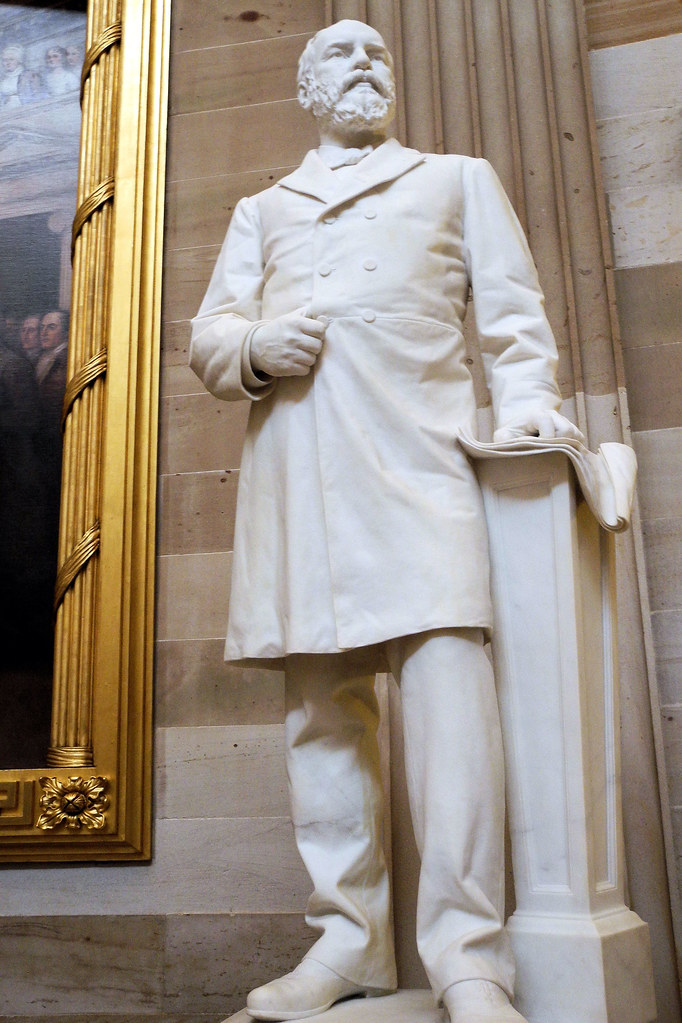 President James A Garfield Statue In The Us Capitol Rotun
