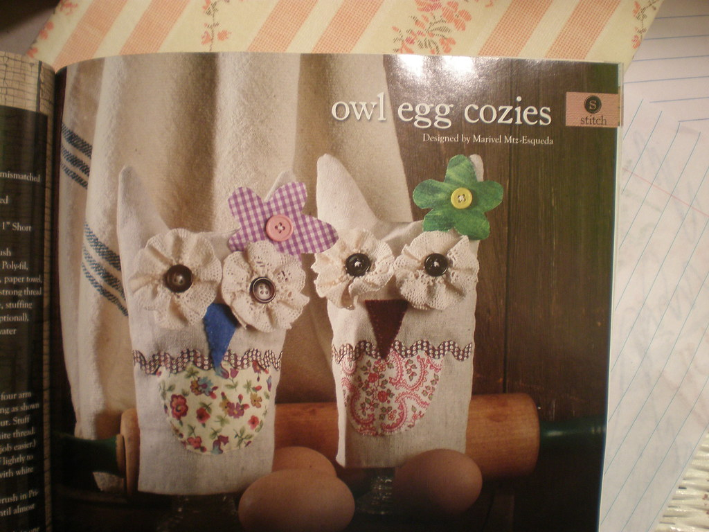 Owl egg cozy featured in create decorate magazine for Create and decorate magazine free