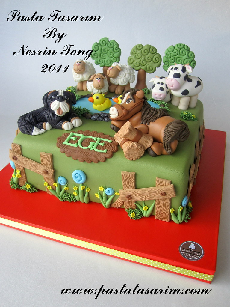 farm animal cake farm animal cake ege birthday cake www pastatasarim 4050